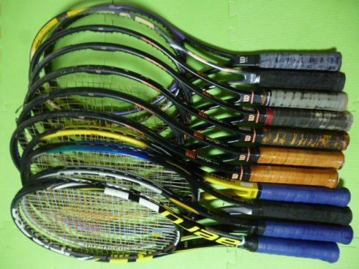 10本のテニスラケット