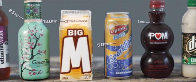 飲み物に入っている砂糖