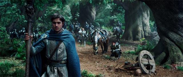 森の中を騎士達と進むカドガー