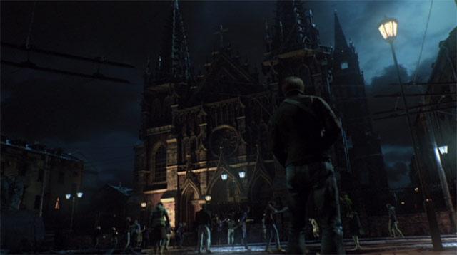 教会を取り囲むゾンビ