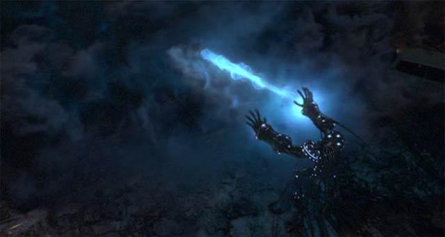 掌からエネルギー波を発射2