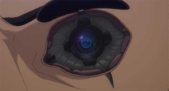 サイトーの改造された左目